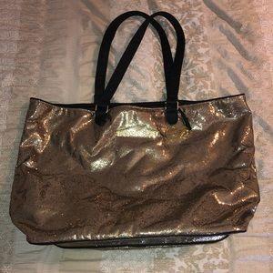 Victoria's Secret Gold Tote Bag